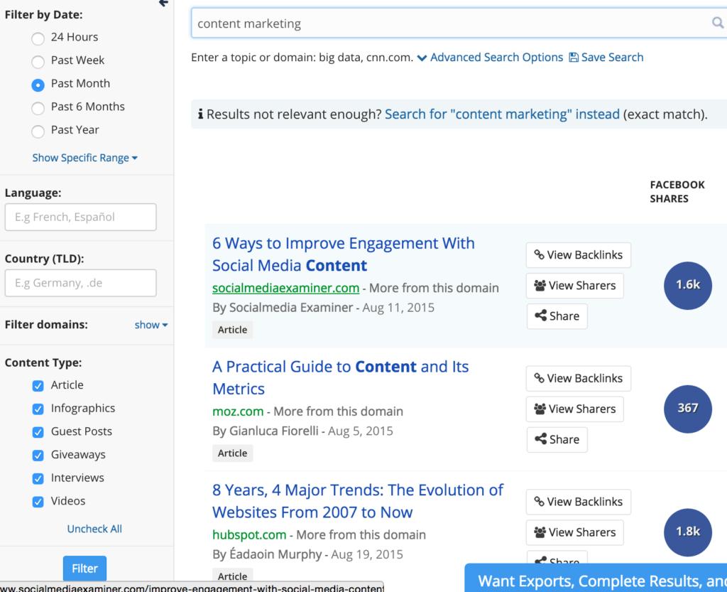 Buzzsumo & Content Marketing