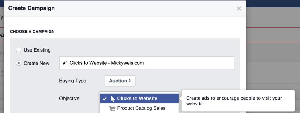 Facebook Annonce Kampagne Oprettelse