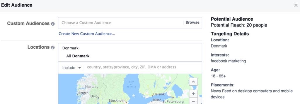 Målgruppe Facebook Markedsføring