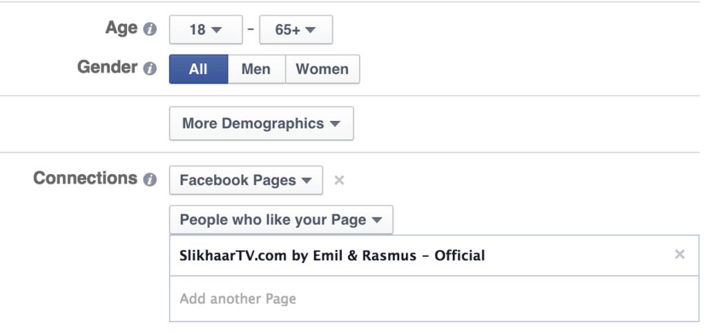 Muligheder for målretning på Facebook
