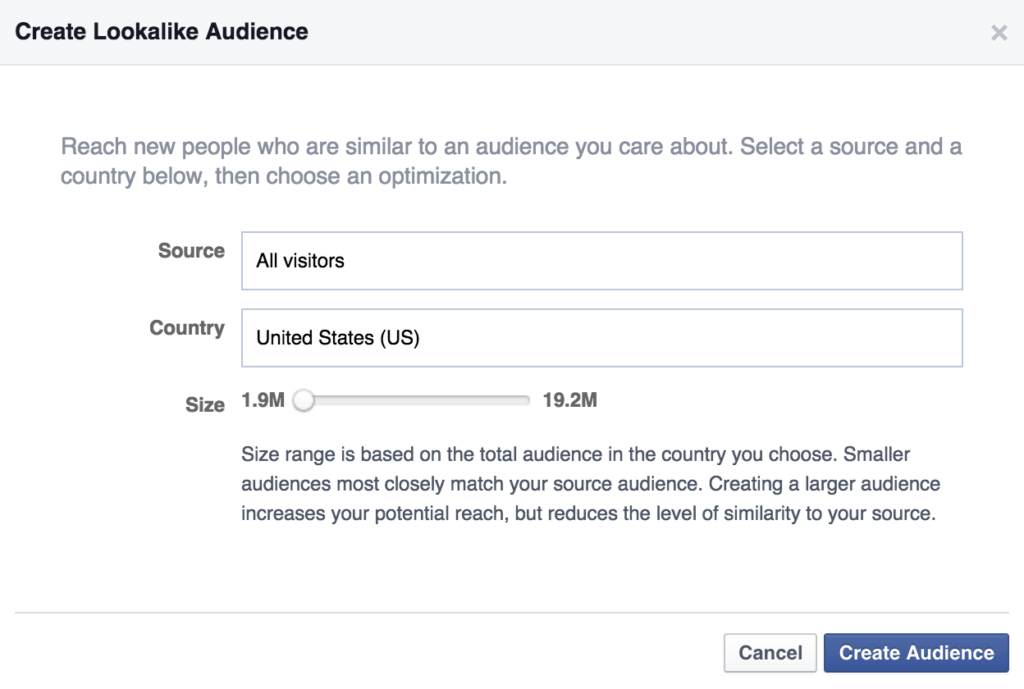 Lookalike audience i Facebook Ads Manager
