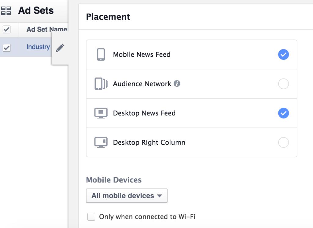 Facebook Markedsføring Placering