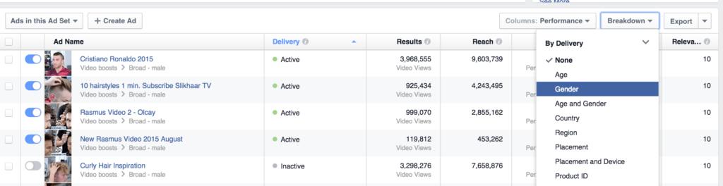 Facebook Ads Rapportering
