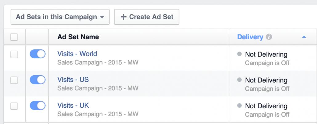 Facebook Ad Sets