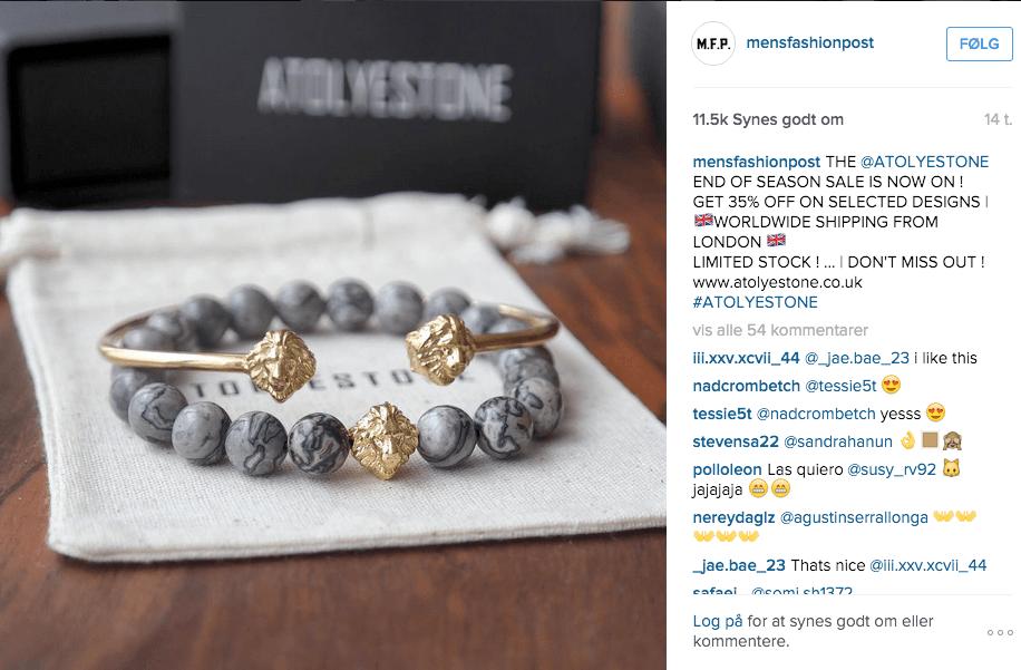 Instagram Kampagne ATOLYESTONE