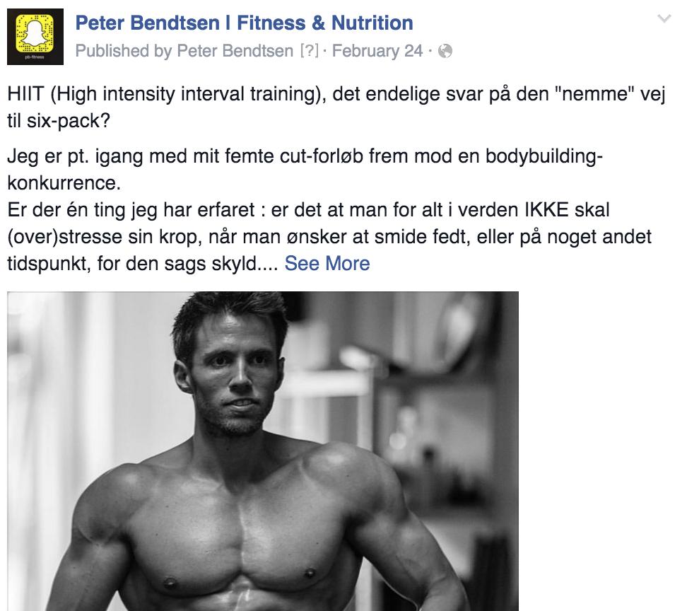 Peter Bendtsen Facebook Opslag