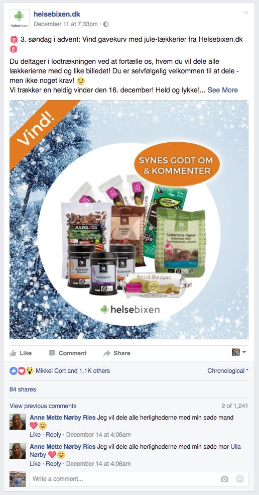 Helsebixen Facebook Konkurrence