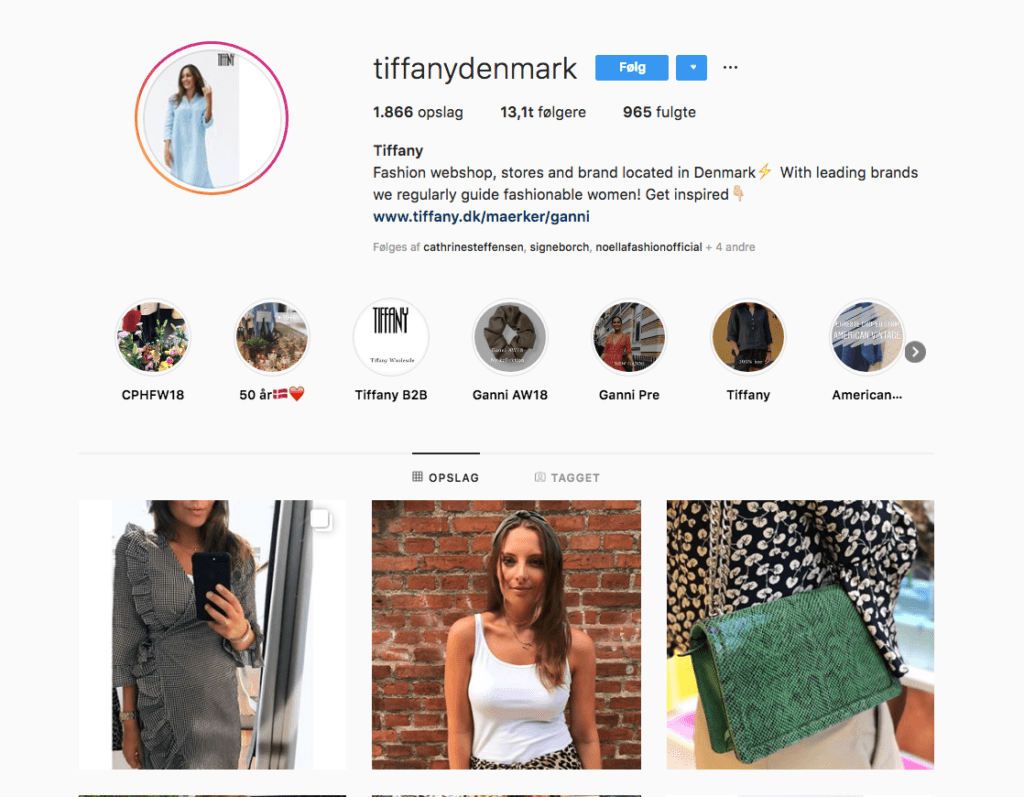 Tiffany Denmark Instagram