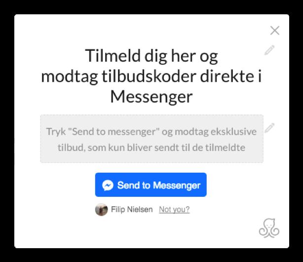 Tilbudskoder i Messenger