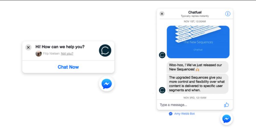 Facebook Messenger Eksempel