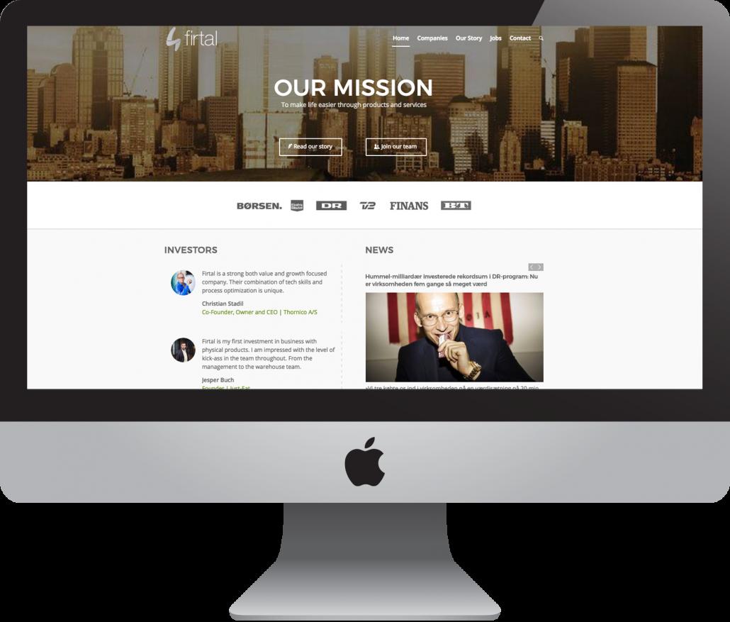 FirtalWeb Hjemmeside
