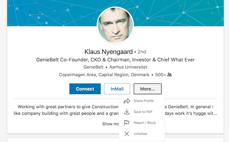 Klaus Nyengaard LinkedIn