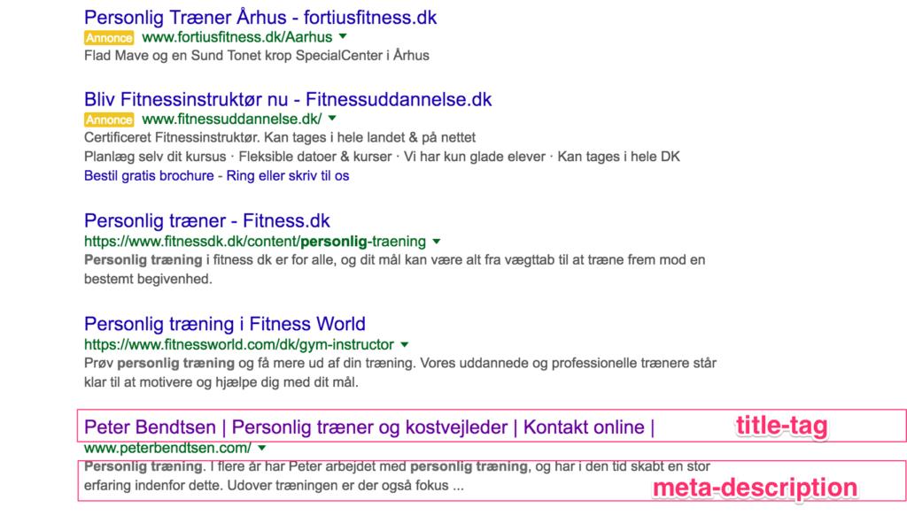 Google SEO Titla & Meta Description