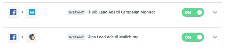 MailChimp og Lead Ads